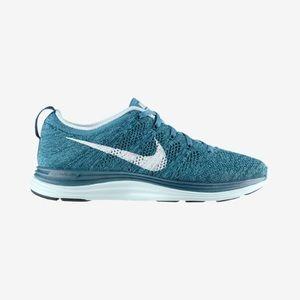 Flyknit Lunar1 Blue Women's Nike Sneakers